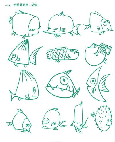 各种鱼-简笔画教程第三波 未完待续 早教帮图片